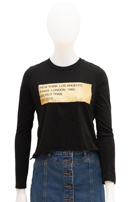 Stussy Black Gold Long Sleeve Top Preloved