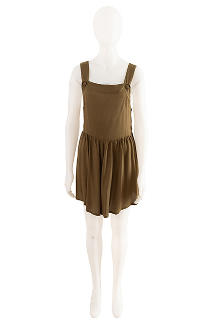 ASOS Khaki Pinafore Dress Preloved