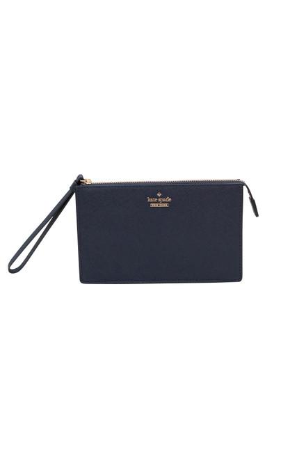 Kate Spade Cameron Street Leila Dark Blue Wristlet Wallet.