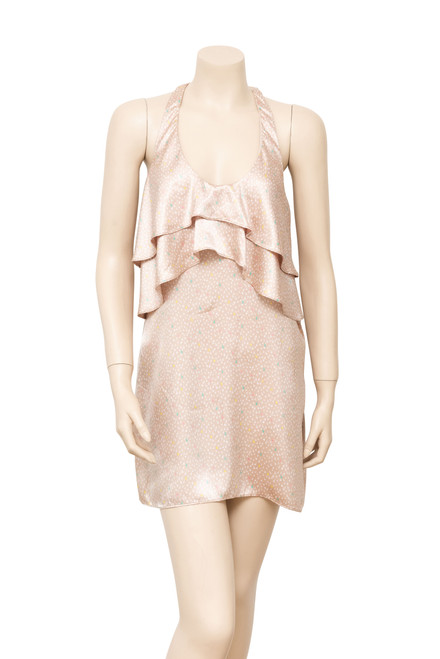 Bracewell Cream Satin Minidress Preloved