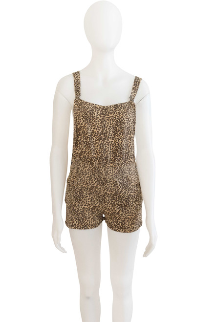 Stussy Secondhand Animal Print Short Overalls