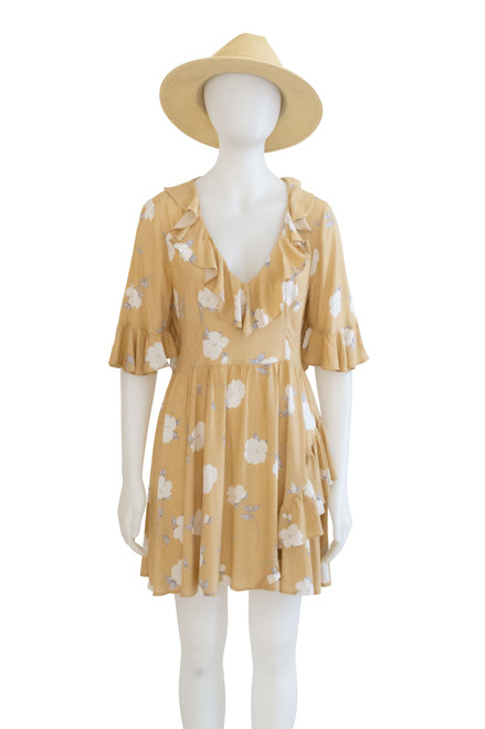 Indikah Yellow Floral Dress Secondhand