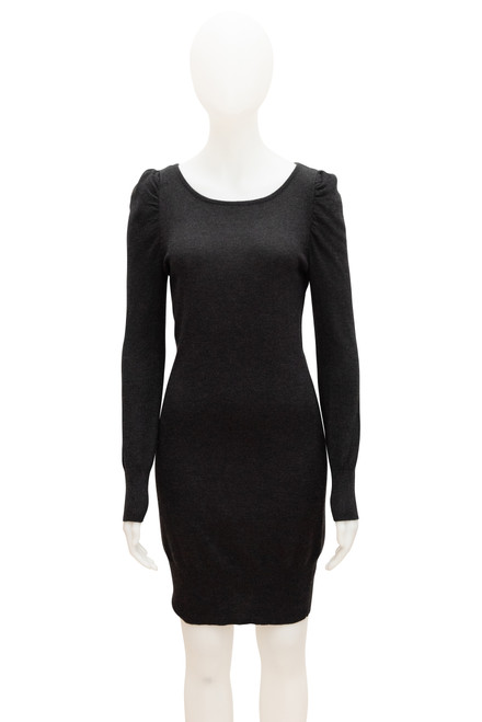 David Lawrence Grey Knit Dress Preloved