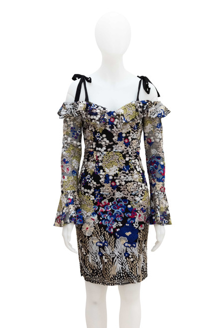 Ministry of Style Floral Lace Embroidered Dress Secondhand