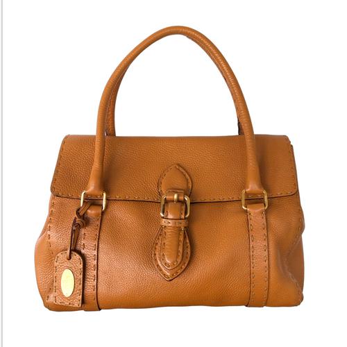 Secondhand Fendi Tan Leather Handbag