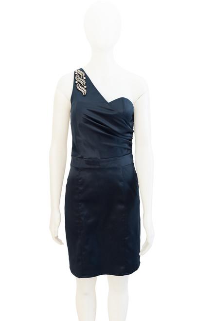 Second hand Elle Zeitoune One Shoulder Blue Satin Dress