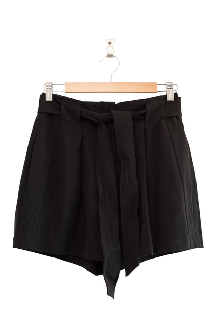 Tokito Black Tie Waist Shorts Second Hand