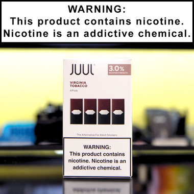 Juul Virginia Tobacco Pods (4 pack, 3% Nicotine)