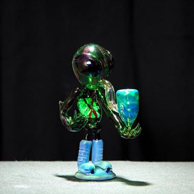 Alien Glass Hand Pipe