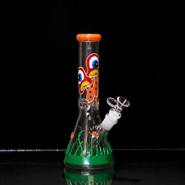 Mushroom Graphic Beaker (Glow in the dark)