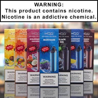 HQD Cuvie Air Disposable Ecigs 5% Nicotine
