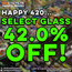GET 42.0% OFF SELECT GLASS!