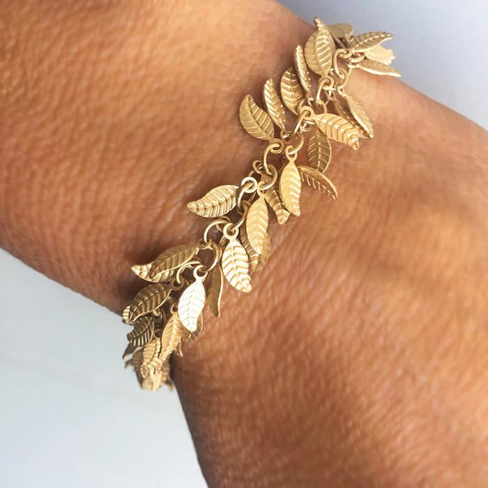 Gold Leaves - Bracelet
