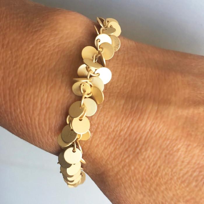 Gold Disks - Bracelet