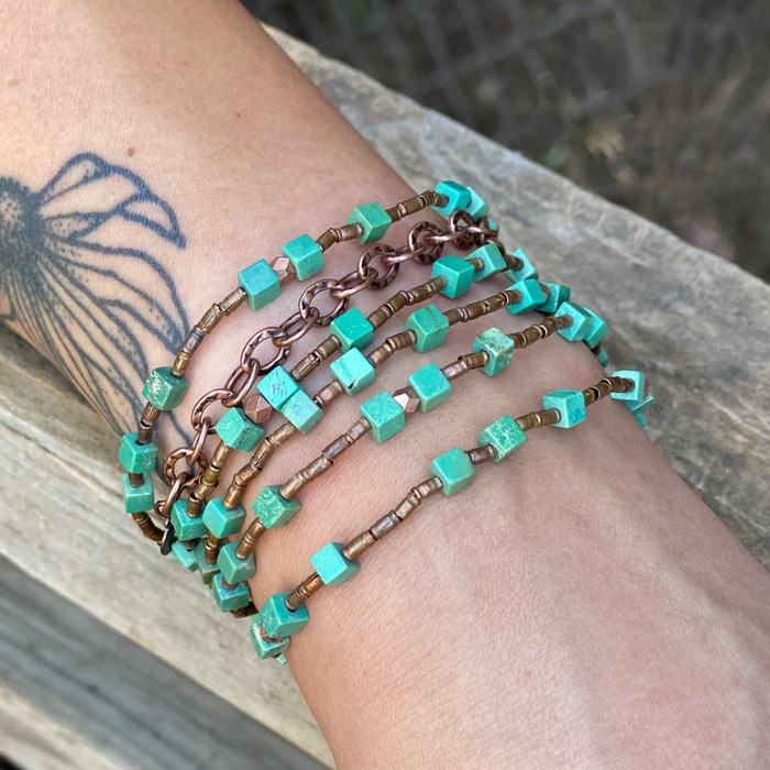 Turquoise & Copper Necklace/Bracelet
