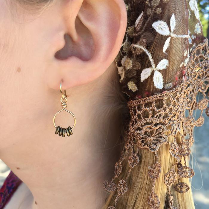 Gold & Brass Hoop Earrings