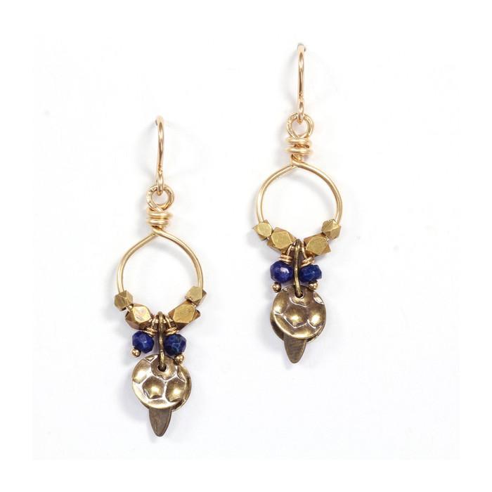 Lapis Queen Earrings