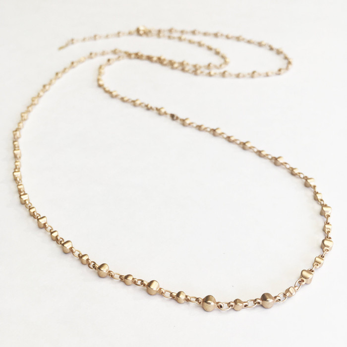 Brushed Gold Layering Necklace/Bracelet