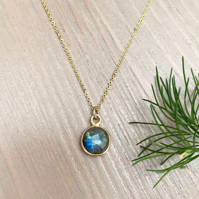 Tiny Labradorite Necklace