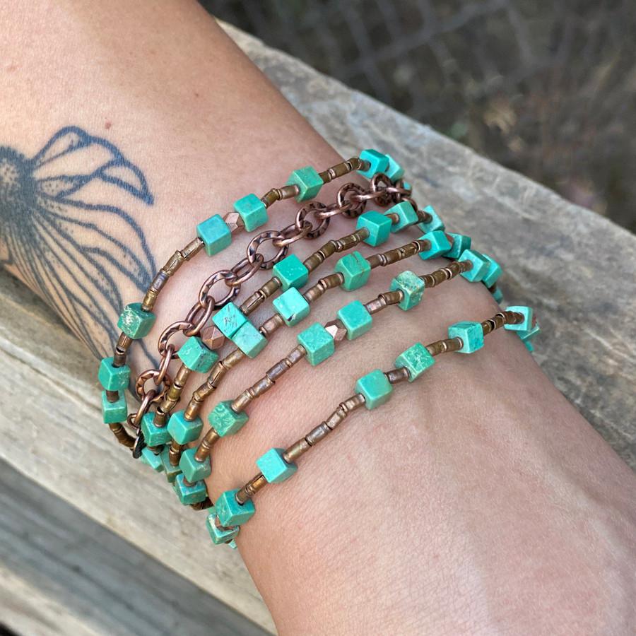 Turquoise & Copper Necklace/Bracelet
