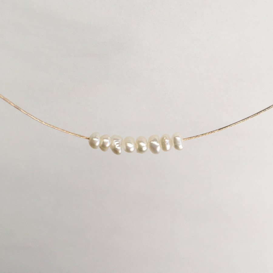 Floating Pearls Necklace