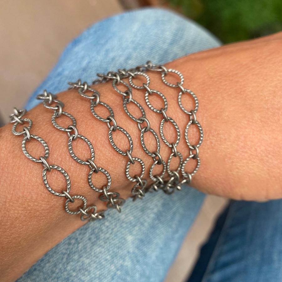 Antiqued Silver Bracelet / Necklace