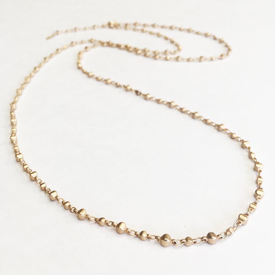 Brushed Gold Layering Necklace/Bracelet