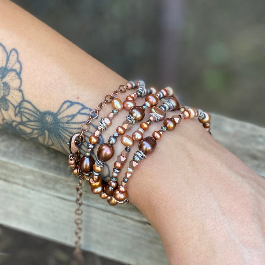 Copper & Silver Necklace/Bracelet
