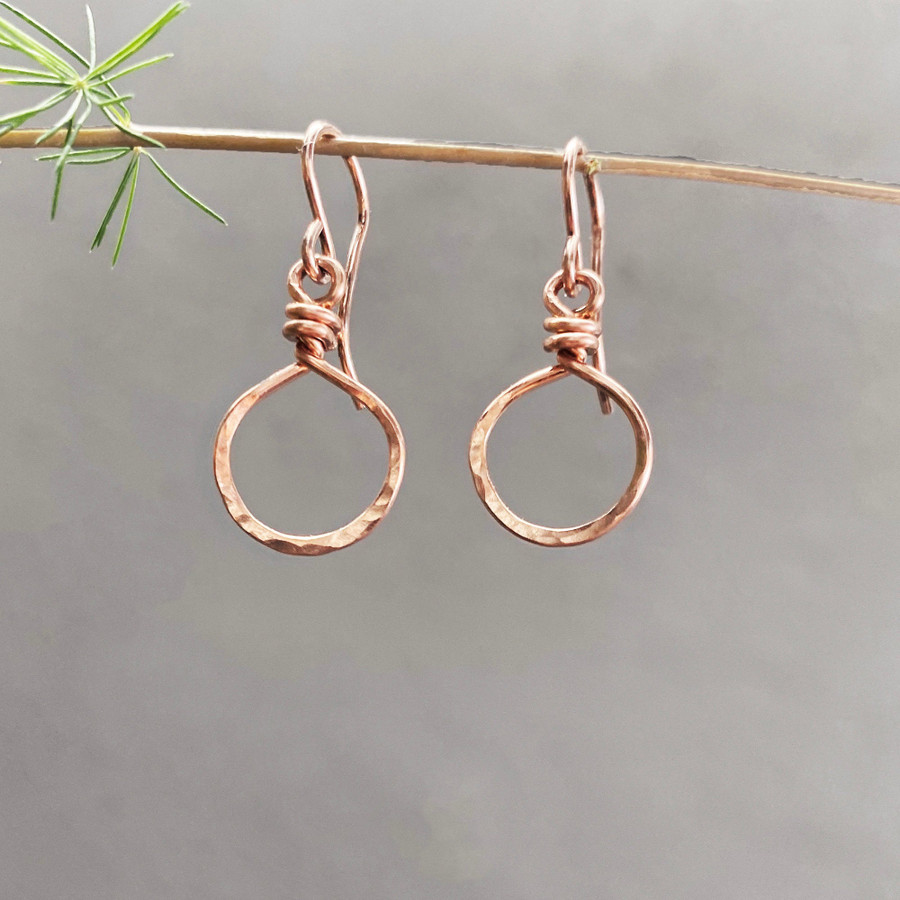 """Rose Gold, size small, dropping approx. 1.25"""""""