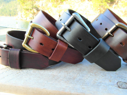 Beautiful hand made leather belts