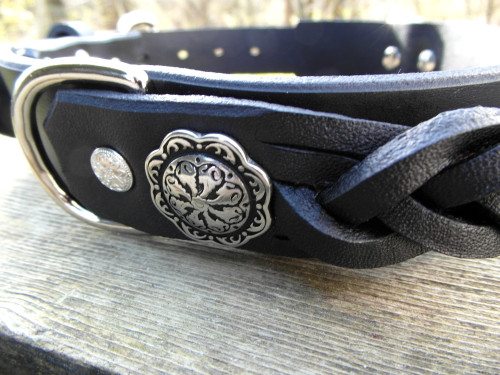 Dog Collar with Braided Handle