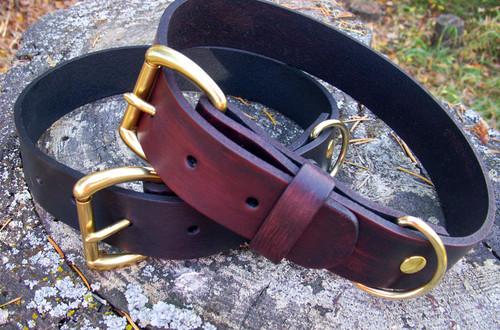 Dog Collar Mahogany or Black