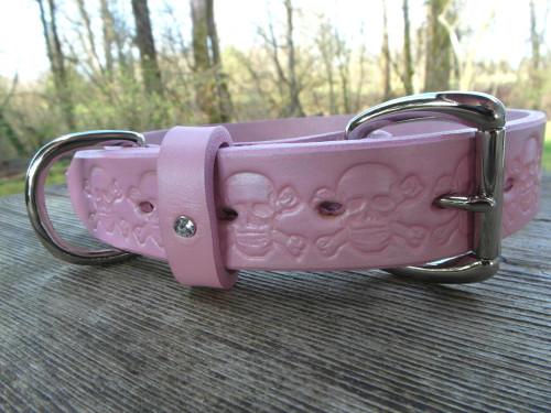 Pink Skull Collar