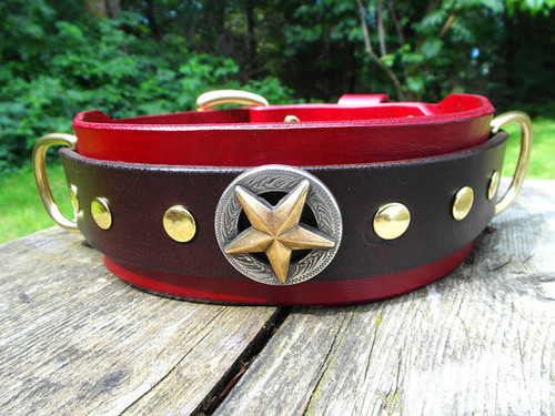 Red Texas Star Collar