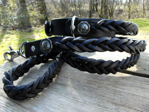 Braided Collar Leash Set