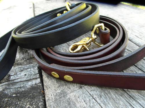 Leather leash