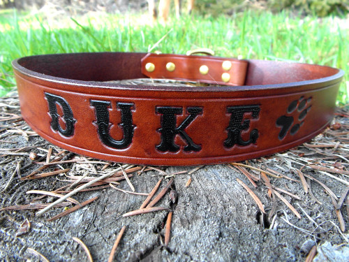 Leather Collar Personalized with Name