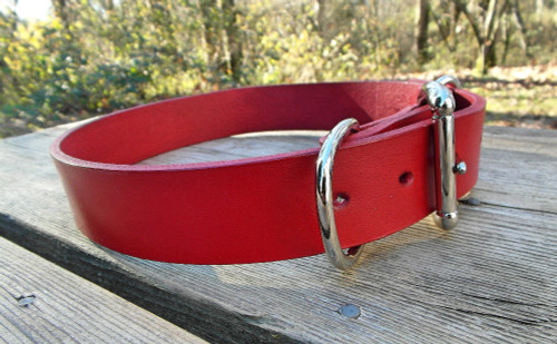 Plain red dog collar