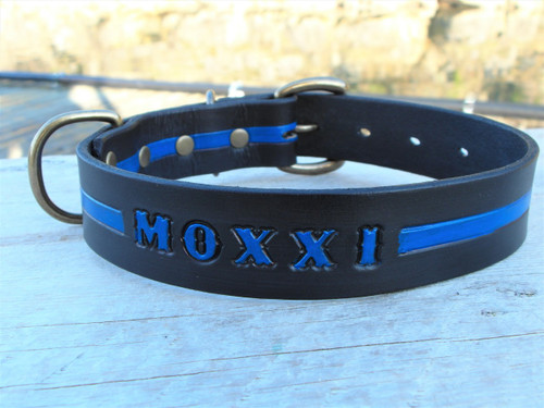 Blue Line Dog Collar