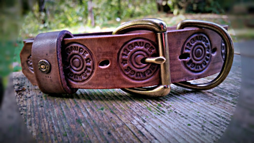 Bird Dog Collar with Shotgun Shells