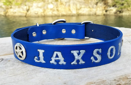 Personalized Blue Collar with Stars
