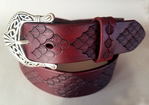 Celtic style belt with dragon scale pattern