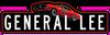 General Lee jumping decal (black)