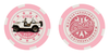Cooter's Poker Chip - Daisy's Jeep - Pink