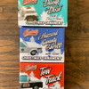 Pack of 3 of Christmas Ornaments each W/Sound Button Tow Truck, Daisy's Dixie& Hazzard Sheriff