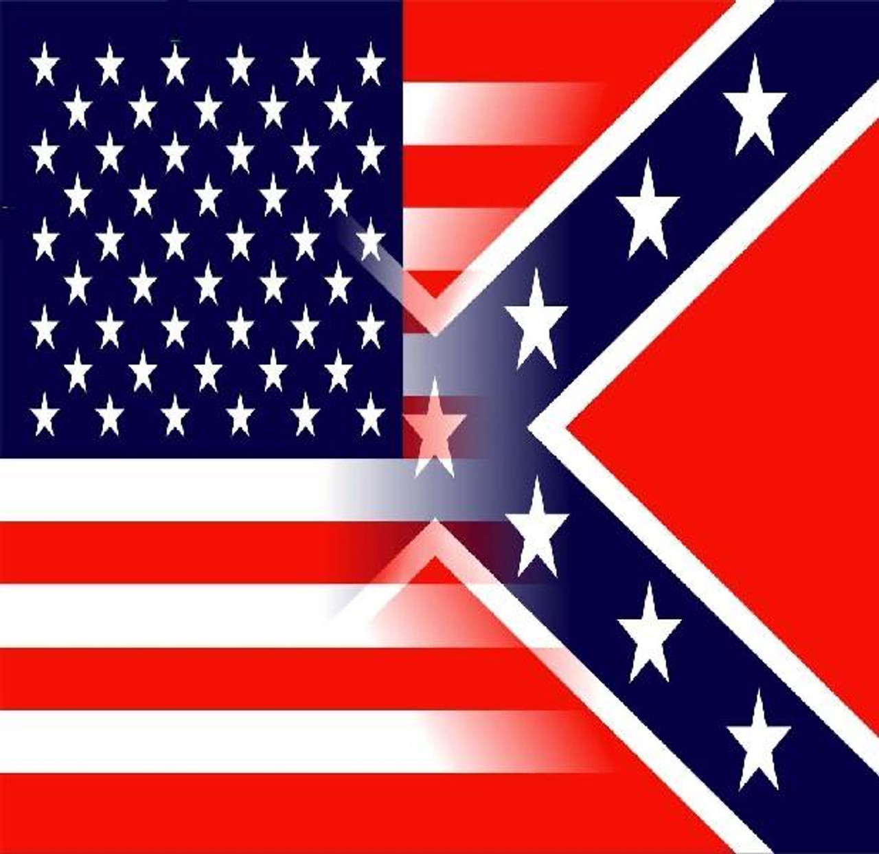Blended USA/Confederate Flag Bandana