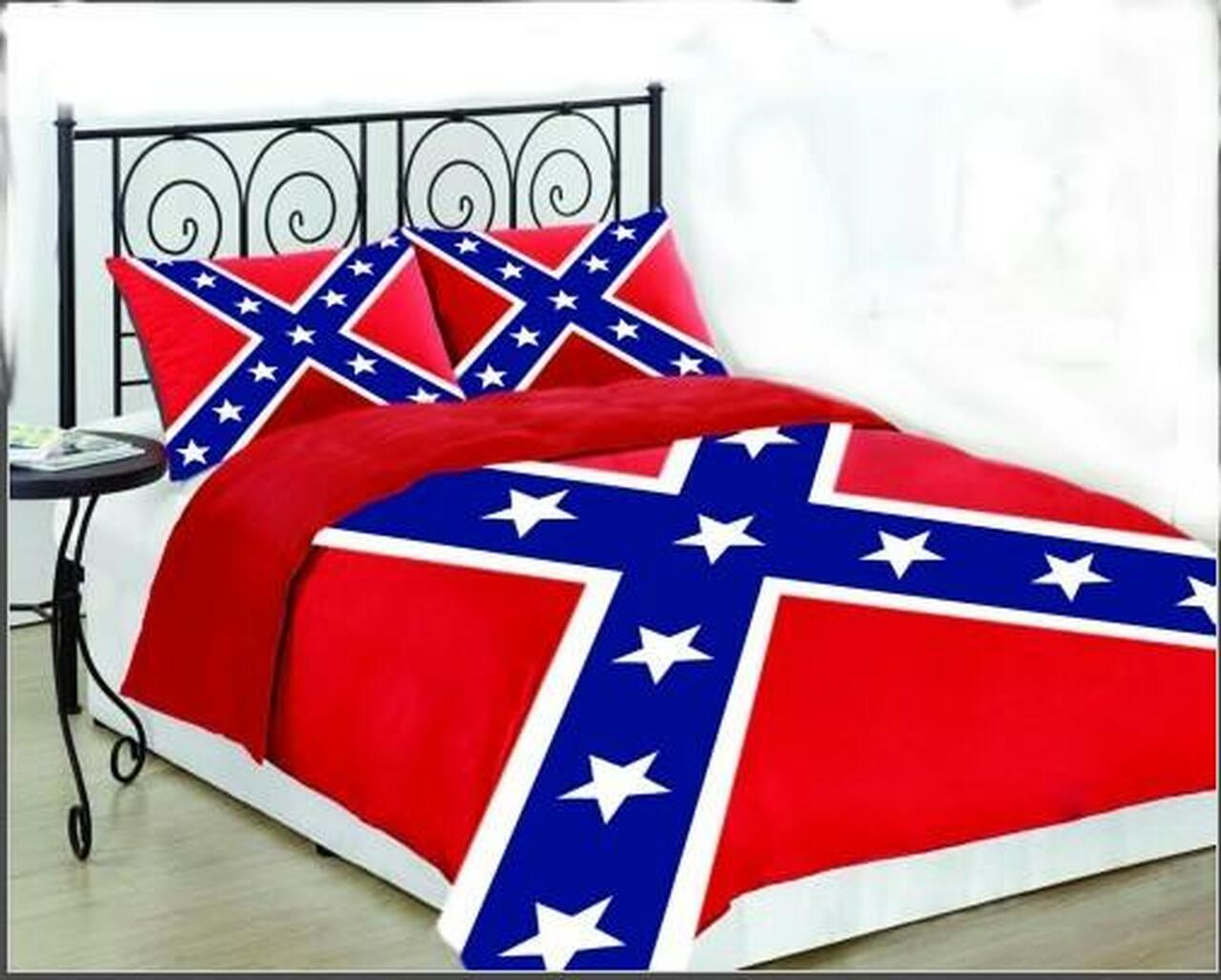 Confederate Flag Bedroom Comforter Bed Set
