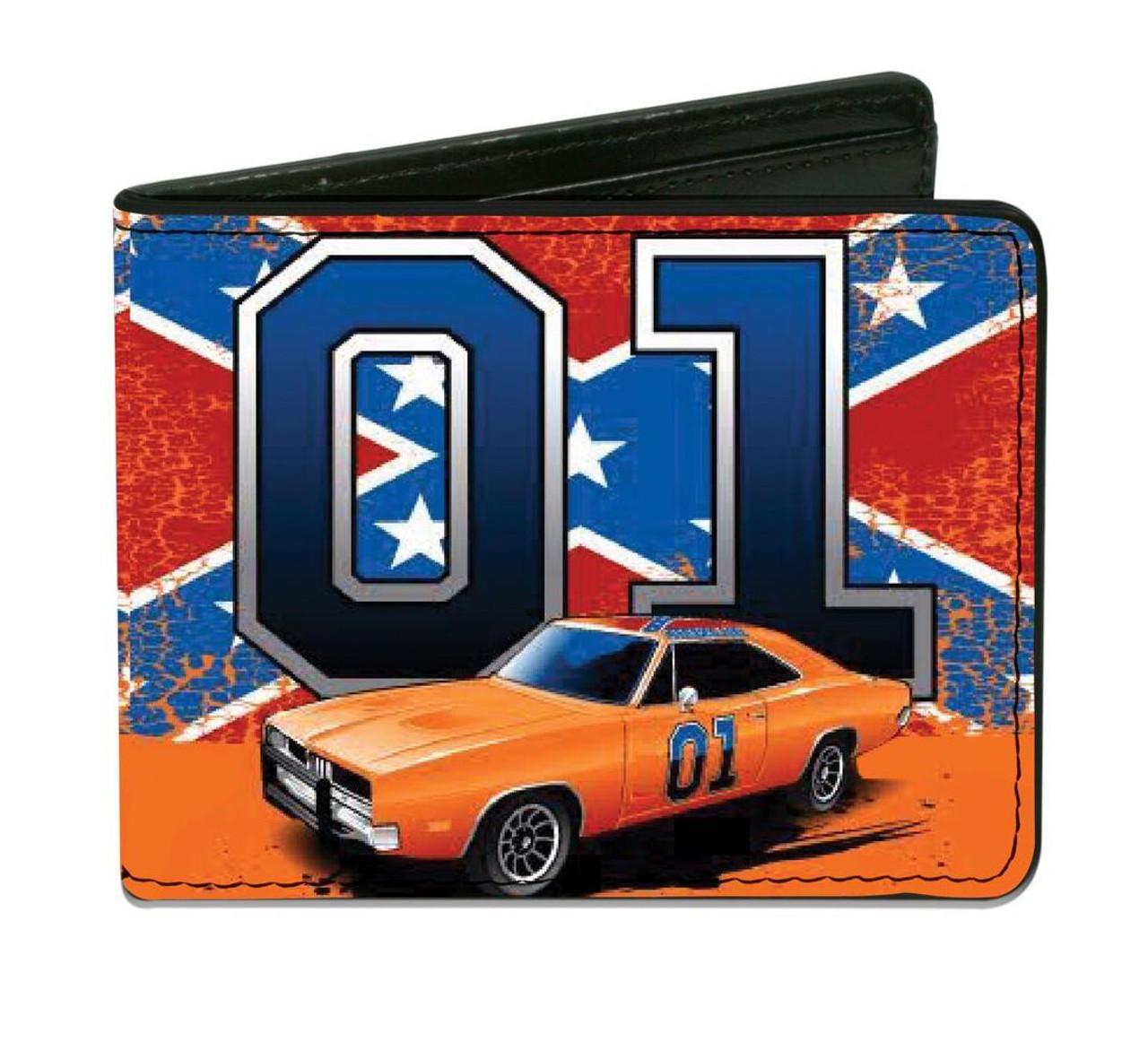 """Cooter's """"General Lee W/ Rebel Flag 01"""" Wallet (Orange)"""