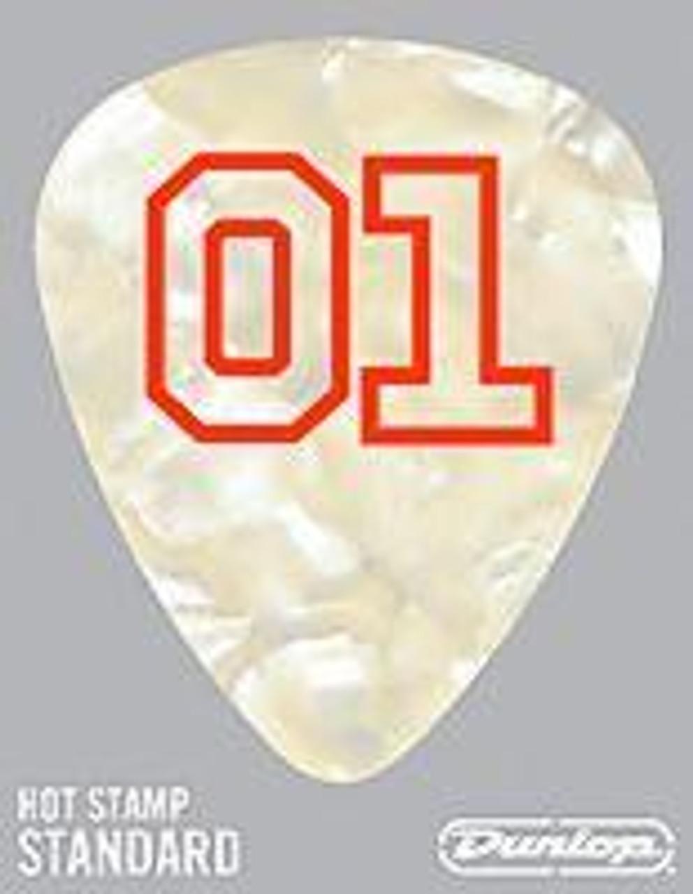 Guitar Pick White 01 Pearl