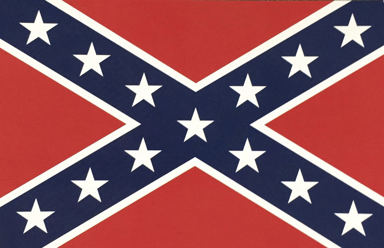 Postcard Confederate Flag